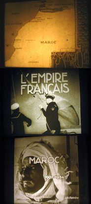 "Poses n°2, 3 et 4 du film fixe ""L'Empire français n°2"", s.d, 08EC0002, Collection de l'Association de sauvegarde de films fixes en Anjou."