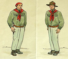 Fig. 2 : Drawing « Red Scout in a uniform », late 1920s, courtesy of Českomoravská konfederace odborových svazů.