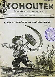 Fig. 4 : Frontpage of the journal Kohoutek (1926)
